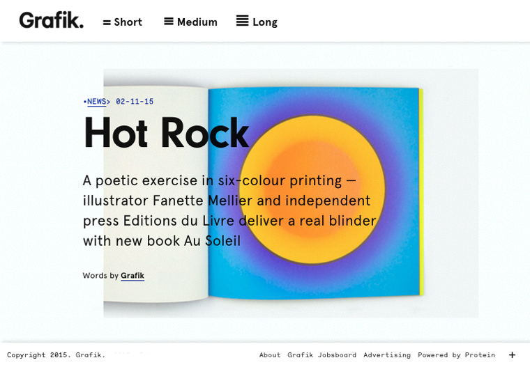 article hot rock paru sur grafik
