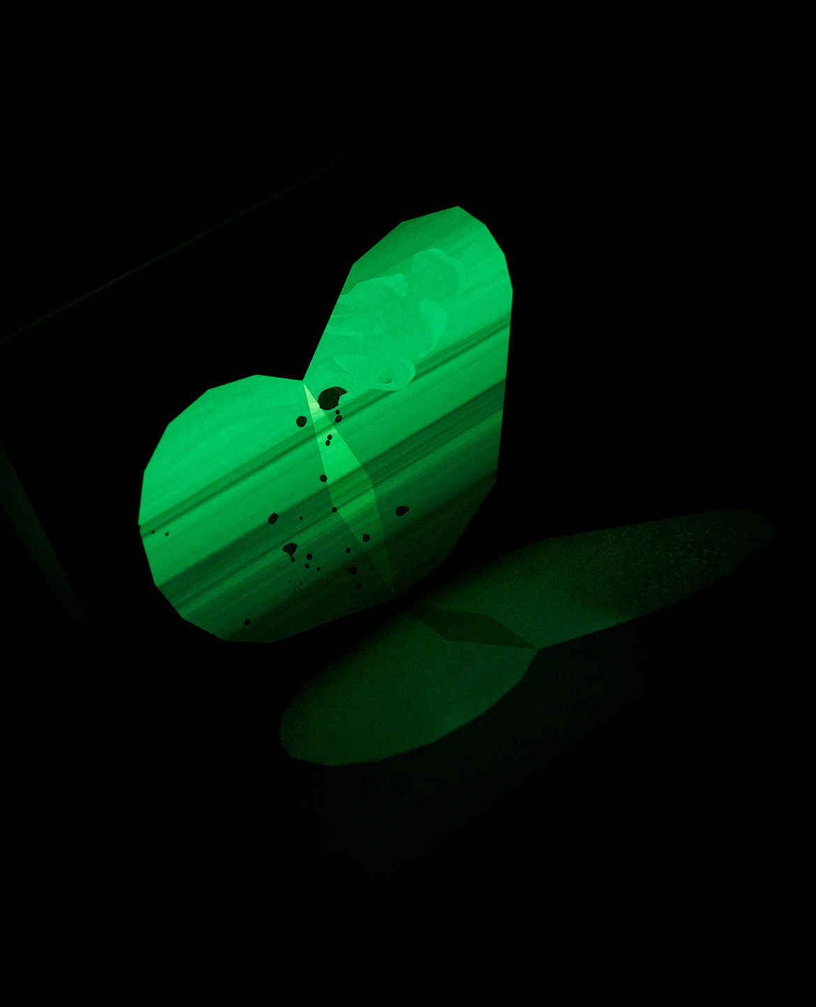 Phosphorescent butterfly from the book Le Papillon imprimeur