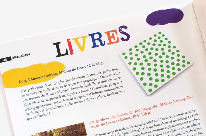 "Article about ""Dots"" by Antonio Ladrillo published in Revue Dada n°199"