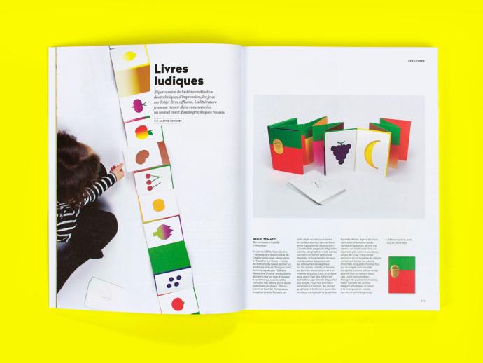 """""""Hello tomato"""" en double-page dans le numéro 238 du magazine étapes"""