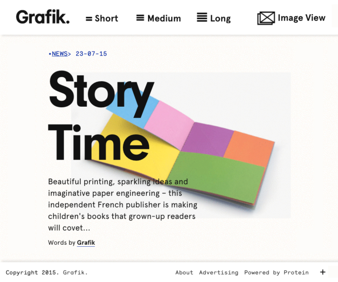 "Article ""Story time"" paru sur Grafik"