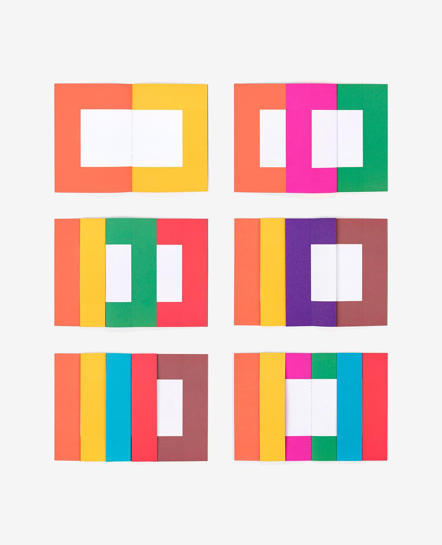 Pages colorées du livre Spaces