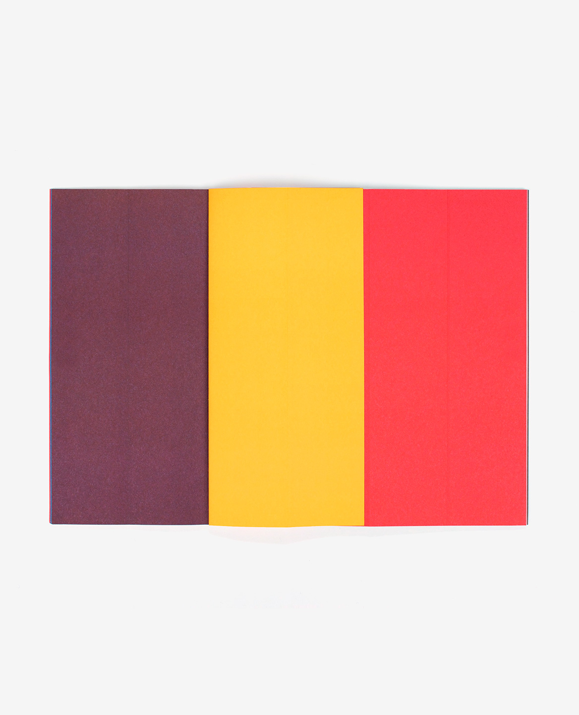 Brown, yellow and red strips in the book Strips