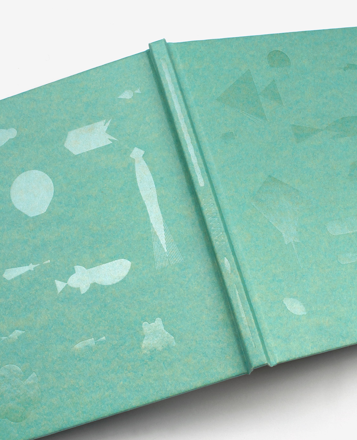 Detail of the transparent foil on the cover of the book Aquarium by Fanette Mellier published by Éditions du livre