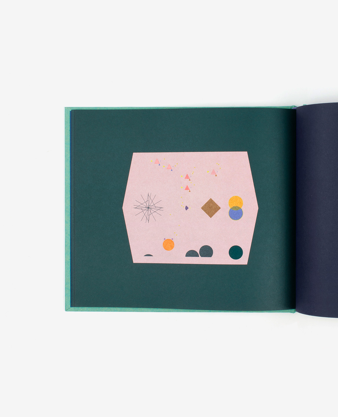 Red hexagonal fish bowl in the book Aquarium by Fanette Mellier published by Éditions du livre