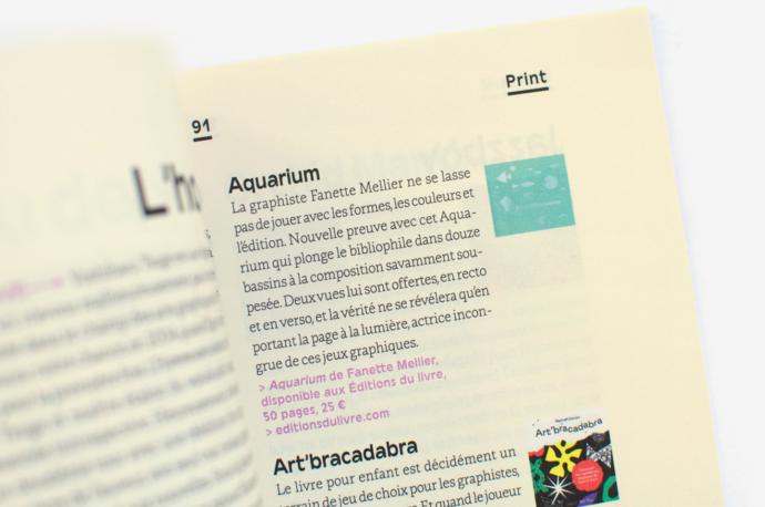 Article sur le livre Aquarium de Fanette Mellier dans Kiblind Magazine