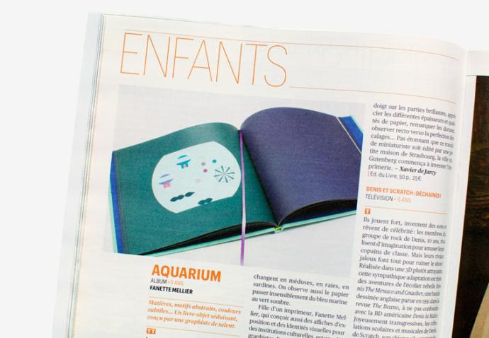 Aquarium de Fanette Mellier dans la rubrique Enfant de Télérama
