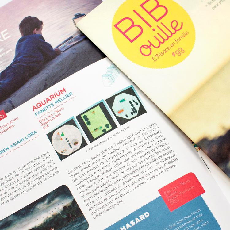 Chronique de l'ouvrage Aquarium de Fanette Mellier dans le magazine Bibouille