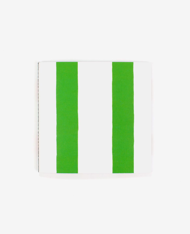 Deux bandes vertes sur la couverture du livre Lines d'Antonio Ladrillo publié aux Éditions du livre