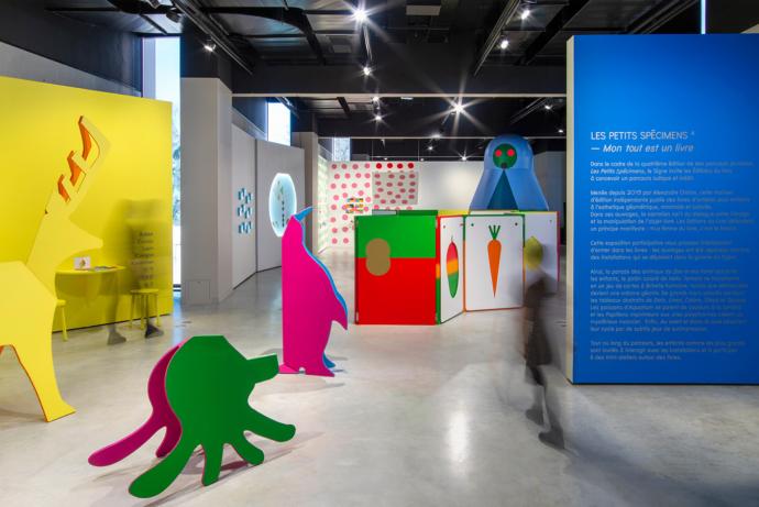 Vue générale de l'exposition Les Petits Spécimens #4 au Signe, Centre national du graphisme