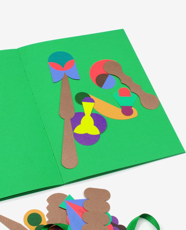 Quelques formes graphiques colorées du livre Herbier de Fanette Mellier